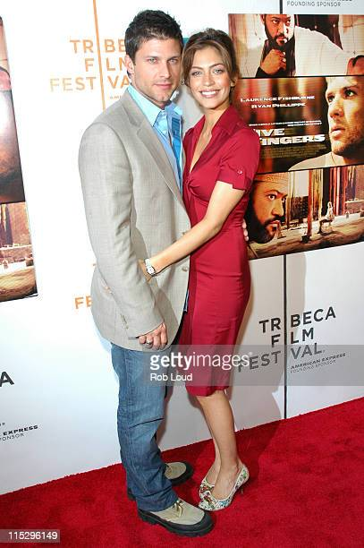 Greg Vaughn and Touriya Haoud during 5th Annual Tribeca Film Festival Five Fingers Premiere Inside Arrivals at Tribeca Performing Arts Center in New...