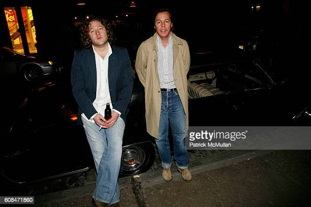 Greg Vore and Andy Spade attend JACK SPADE Presents a Collection of Metal Flake Motorcycle Helmets at JACK SPADE on March 22 2007 in New York City