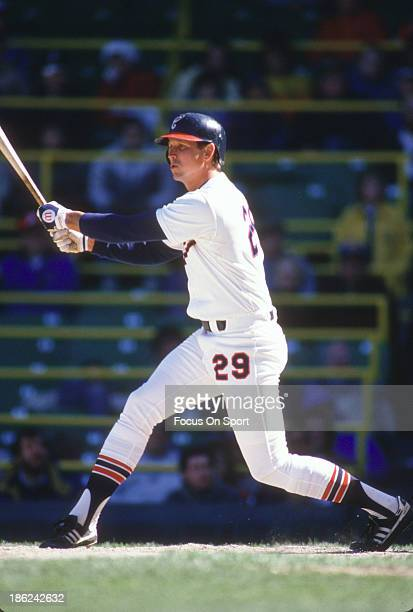 Greg Walker of the Chicago White Sox bats during an Major League Baseball game circa 1988 at Comiskey Park in Chicago Illinois Walker played for the...