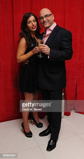Greg Wallace and Anne-Marie Sterpini attends the pre-party for the English National Ballet's The Nutcracker at St Martin's Lane Hotel on December 12,...