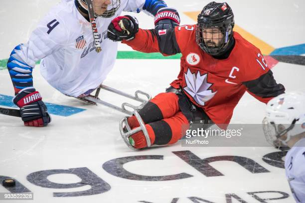 Greg WESTLAKE and Brody ROYBAL during The Ice Hockey gold medal game between Canada and United States during day nine of the PyeongChang 2018...