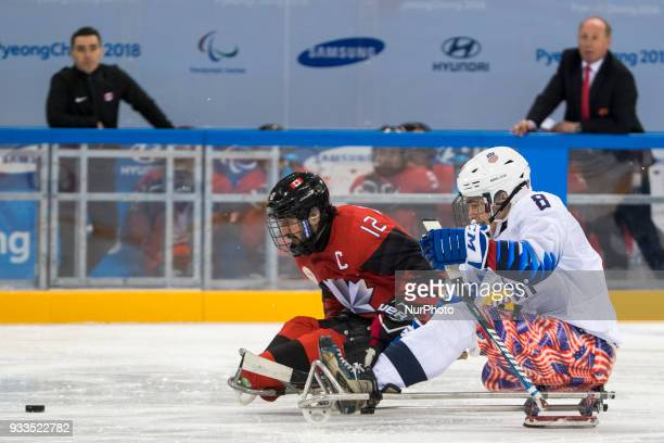 Greg WESTLAKE and Jack WALLACE during The Ice Hockey gold medal game between Canada and United States during day nine of the PyeongChang 2018...