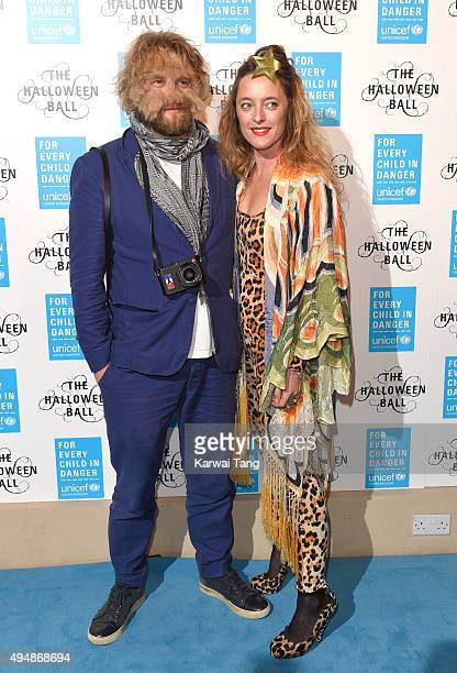 Greg Williams and Alice Temperley attend the UNICEF Halloween Ball at One Mayfair on October 29 2015 in London England