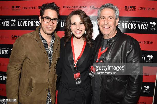 Greg Williamson Katy Williamson and Richard Yulman attend the Love Rocks NYC PreConcert Cocktail at CESCA Restaurant on March 15 2018 in New York City