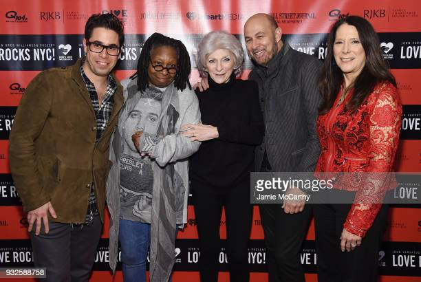 Greg Williamson Whoopi Goldberg Judy Collins John Varvatos and Karen Pearl attend the Second Annual LOVE ROCKS NYC A Benefit Concert for God's Love...