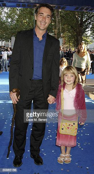 Greg Wise and daughter Gaia Romilly Wise arrive at the The World Charity Premiere of Nanny McPhee in aid of The Refugee Council at the UCI Empire...