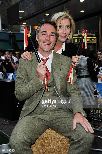 Greg Wise and Emma Thompson arrive for the UK film premiere of 'Morris A Life With Bells On' at the Prince Charles Cinema on September 24 2009 in...