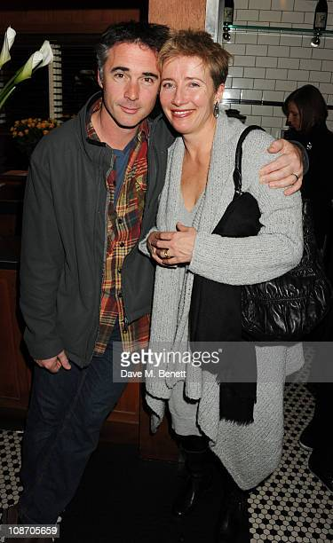 Greg Wise and Emma Thompson attend the Chucs Dive Mountain Shop Launch Party at Automat on February 1 2011 in London England