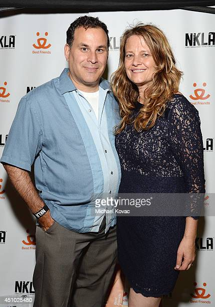 Greg Wolf and BFAS Celebrity Entertainment Relations Manager Amy Wolf enjoy the 'More Than a Cone' art auction and campaign launch benefiting Best...