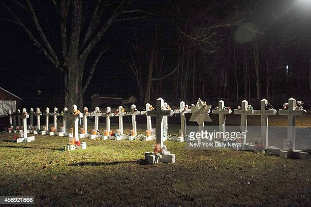 Greg Zanis of Aurora Illinois placed crosses to memorialize the victims in the Sandy Hook Elementary School mass shooting Zanis an electrician has...