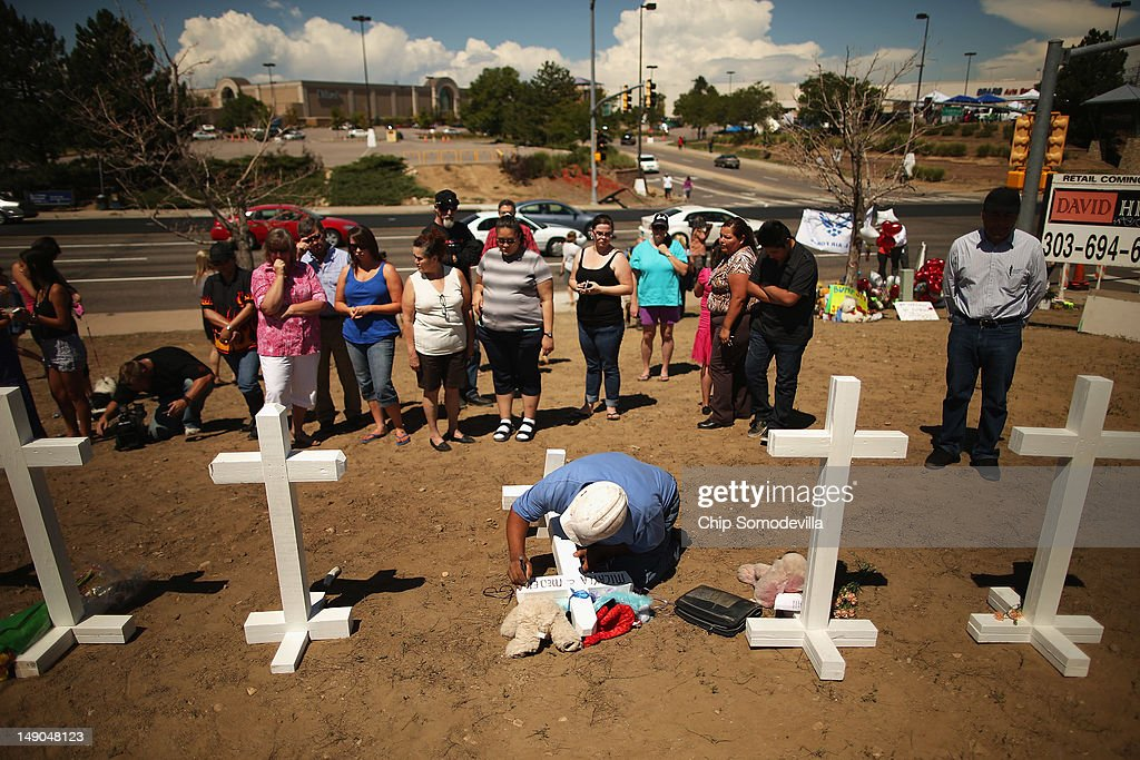 Colorado Community Mourns In Aftermath Of Deadly Movie Theater Shooting : News Photo