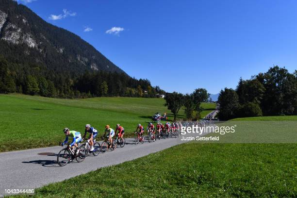 Grega Bole of Slovenia / Anthony Roux of France / Simon Geschke of Germany / Peloton / Landscape / during the Men Elite Road Race a 2585km race from...