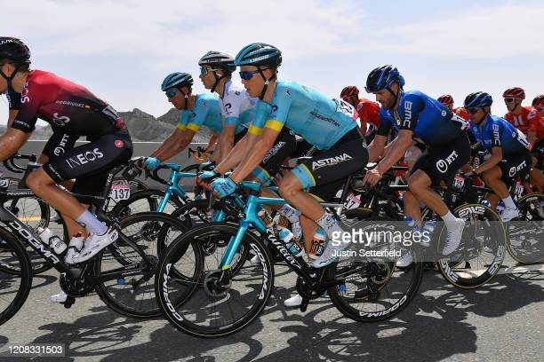 Gregaard Wilsly Jonas of Denmark and Astana Pro Team / Alexey Lutsenko of Kazakhstan and Astana Pro Team / Omar Fraile Matarranz of Spain and Astana...