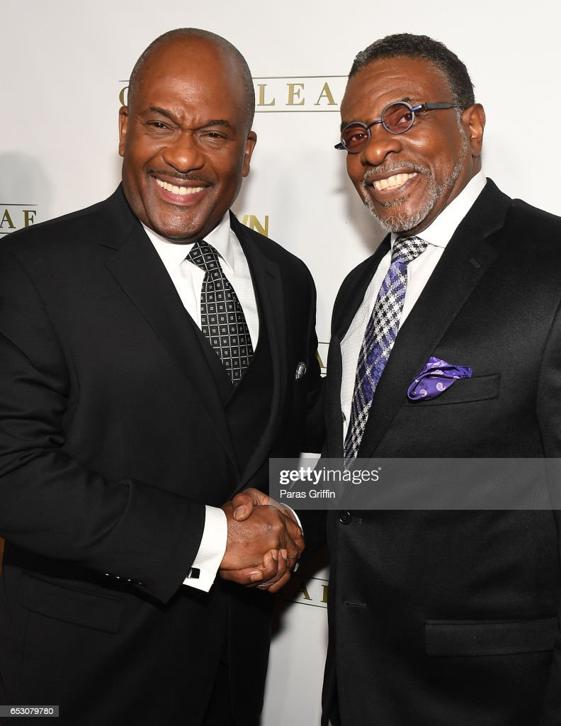 GregAlan Williams and Keith David attend 'Greenleaf' Season 2 Premiere Party at W Atlanta Midtown on March 13, 2017 in Atlanta, Georgia.