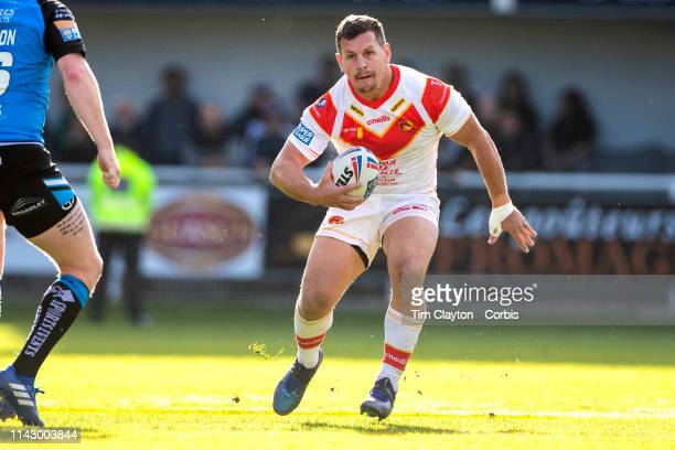 GregBird of Catalans Dragons in action during the Catalans Dragons V Hull FC Betfred Super League regular season match at Stade Gilbert Brutus on...