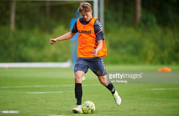 Gregers ArndalLauritzen of Brondby IF in action during the Brondby IF training session at Brondby Stadion on June 20 2017 in Brondby Denmark