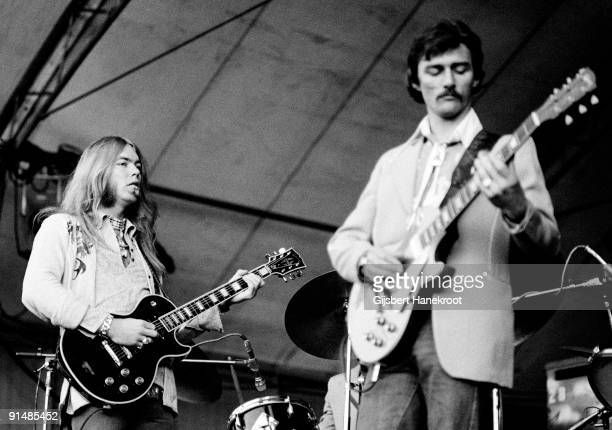 Gregg Allman and Dickey Betts of the Allman Brothers perform live in Holland in 1975