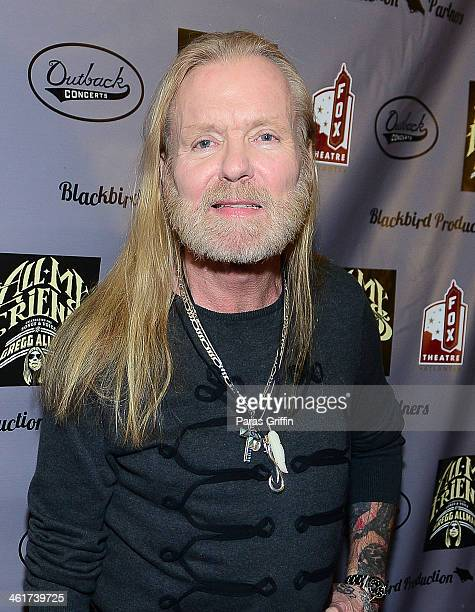 Gregg Allman attends All My Friends Celebrating the Songs Voice of Gregg Allman at The Fox Theatre on January 10 2014 in Atlanta Georgia