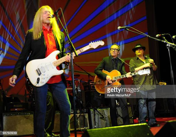 * EXCLUSIVE * Gregg Allman Elvis Costello and John Popper perform onstage during The Michael J Fox Foundation�s 2009 Benefit 'A Funny Thing Happened...