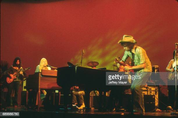 Gregg Allman live in concert with the Allman Brothers Band at Balboa Stadium on October 12 1975 in San Diego California