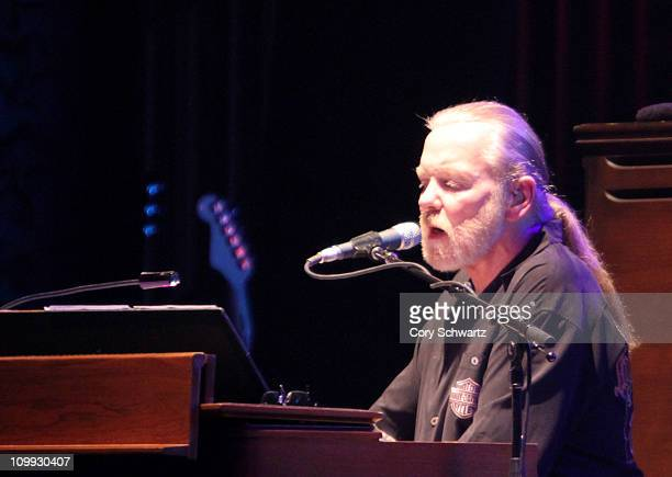 Gregg Allman of the Allman Brothers Band performs at Beacon Theatre on March 10 2011 in New York City