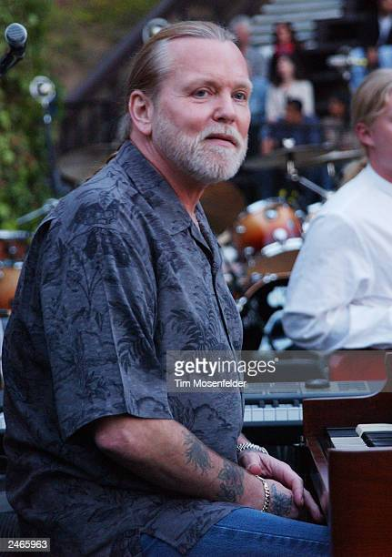 Gregg Allman of The Allman Brothers Band performs at the historic Mountain Winery September 4 2003 in Saratoga California The band is currently...
