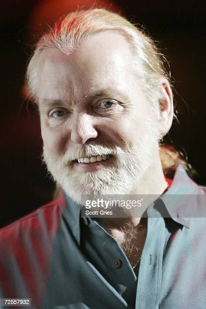 Gregg Allman of the Allman Brothers Band poses for a photo onstage following a press conference to announce that MSG Entertainment will acquire the...