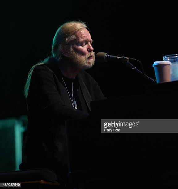 Gregg Allman performs on day 2 of the Ramblin' Man Festival at Mote Park on July 26 2015 in Maidstone England