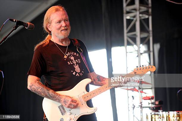 Gregg Allman performs on stage during Bonnaroo 2011 at That Tent on June 12 2011 in Manchester Tennessee