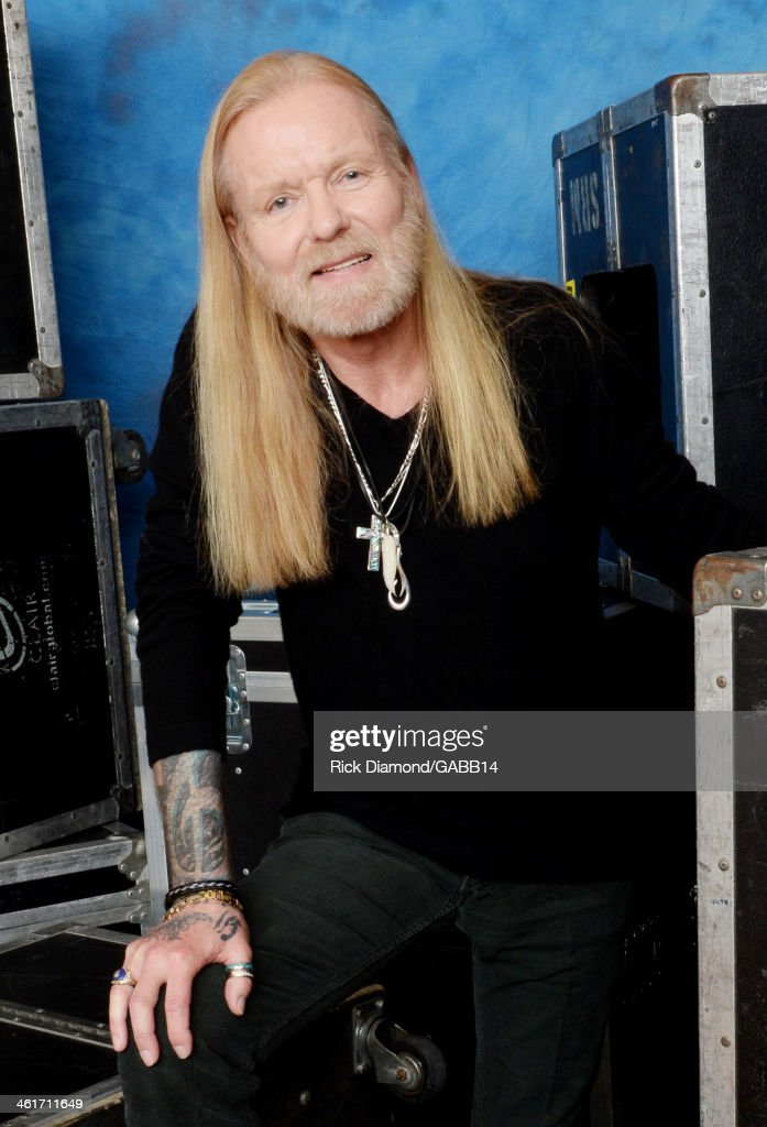 Gregg Allman poses for a portrait at All My Friends: Celebrating the Songs & Voice of Gregg Allman at The Fox Theatre on January 10, 2014 in Atlanta, Georgia.