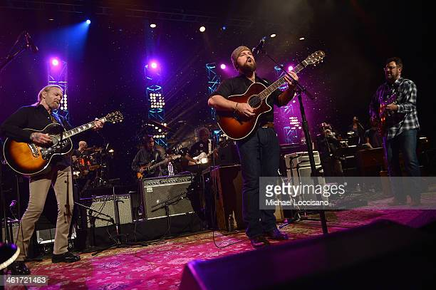Gregg Allman, Zac Brown, and Vince Gill perform during All My Friends: Celebrating the Songs & Voice of Gregg Allman at The Fox Theatre on January...