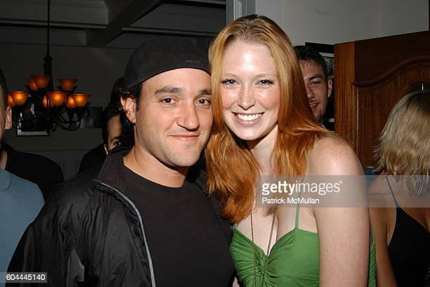 Gregg Bello and Alice Schumacher attend SUN and Nicole Miller host Patrick McMullan's Birthday Party at Jaguar/Cain Estate on August 26 2006 in...
