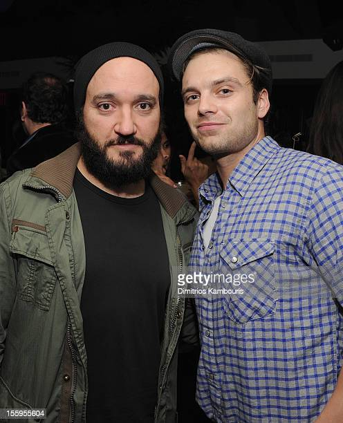 Gregg Bello and Sebastian Stan attend the after party for the Gato Negro Films The Cinema Society screening of 'Hotel Noir' at No 8 on November 9...