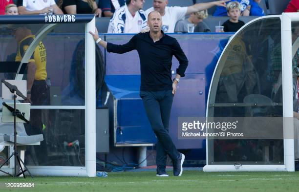 Gregg Berhalter head coach of USMNT during a game between Costa Rica and USMNT at Dignity Health Sports Park on February 1 2020 in Carson California