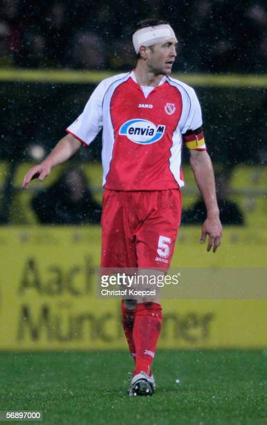 Gregg Berhalter of Cottbus during the Second Bundesliga match between Alemannia Aachen and Energie Cottbus at the Tivoli Stadium on February 20 2006...