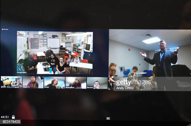 Gregg Cannady right Collaboration and Concept Development teacher at STEM Highlands Ranch along with his students at Highlands Ranch lower left...