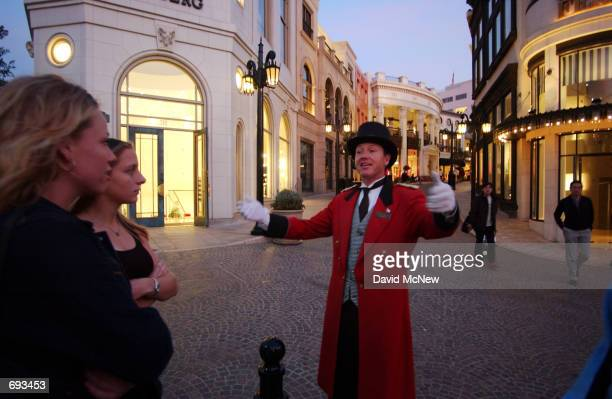 Gregg Donovan Official Ambassador of Beverly Hills welcomes passersby to the corner of Via Rodeo and Rodeo Drive January 12 in Beverly Hills CA Rodeo...