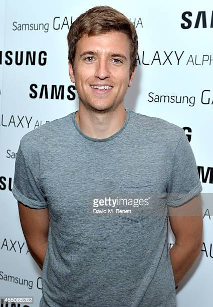 Gregg James attends the Samsung Galaxy Alpha launch event at The Collection on September 9 2014 in London England