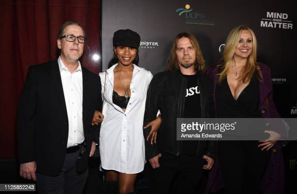 Gregg Journigan Julia Ann Jenna Foxx and Metal Dave arrive at the premiere of Mind Over Matter at the Ahrya Fine Arts Theater on January 28 2019 in...
