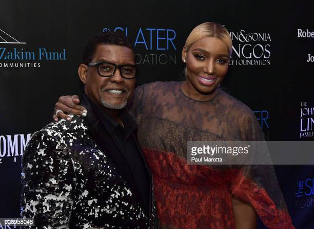 Gregg Leakes and NeNe Leakes pose on the red carpet at the Lenny Zakim Fund's 9th Annual Casino Night to raise money to support more than 60 grass...