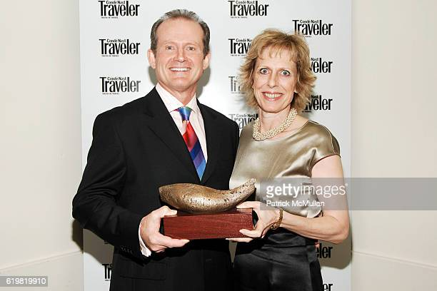 Gregg Michel and Pamela Conover attend CONDE NAST TRAVELER Hosts Acclaimed Readers' Choice Awards Inside Backstage at New York Public Library on...