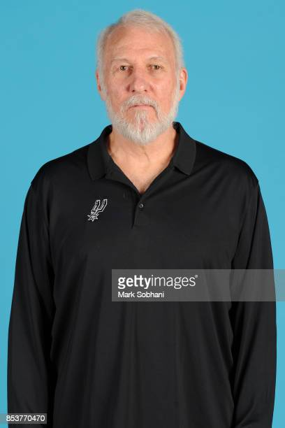 Gregg Popovich of the San Antonio Spurs poses for a head shot during media day in San Antonio Texas at ATT Center on September 25 2017 NOTE TO USER...