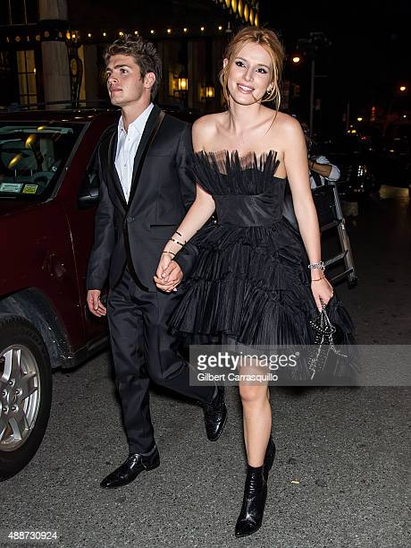 Gregg Sulkin and actress Bella Thorne attend 2015 Harper's BAZAAR ICONS Event at The Plaza Hotel on September 16 2015 in New York City
