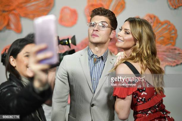 Gregg Sulkin and Ashley Greene attend the POPSUGAR x Freeform Mermaid Museum VIP Night at Goya Studios on March 21 2018 in Los Angeles California