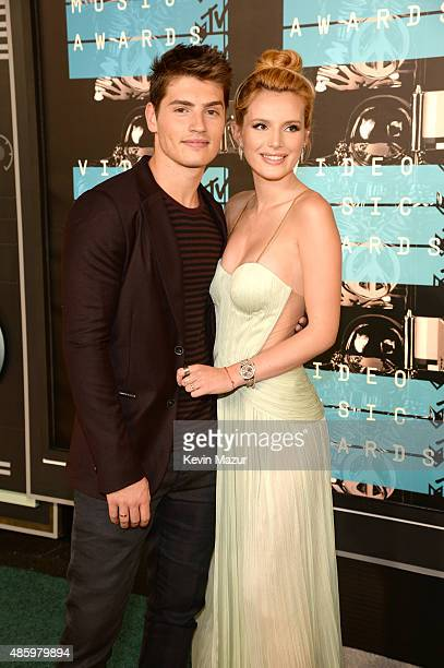 Gregg Sulkin and Bella Thorne attend the 2015 MTV Video Music Awards at Microsoft Theater on August 30 2015 in Los Angeles California
