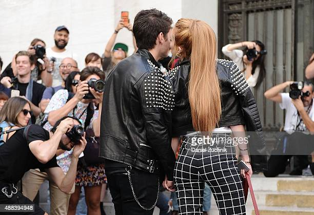 Gregg Sulkin and Bella Thorne attend the Diesel Black Gold show during New York Fashion Week 2016 on September 15 2015 in New York City