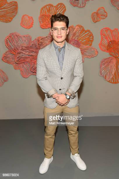 Gregg Sulkin attends the POPSUGAR x Freeform Mermaid Museum VIP Night at Goya Studios on March 21 2018 in Los Angeles California