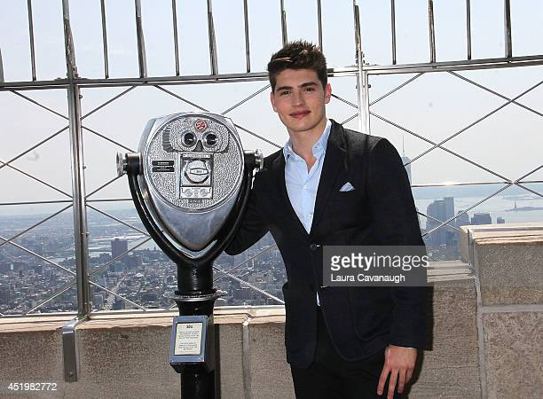 Gregg Sulkin visits at The Empire State Building on July 10 2014 in New York City