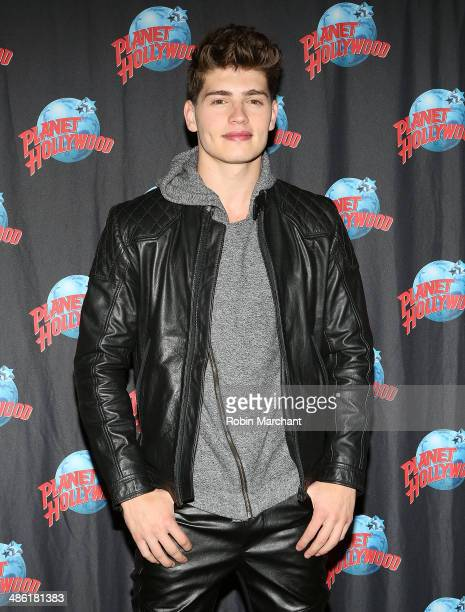 Gregg Sulkin visits Planet Hollywood Times Square on April 22 2014 in New York City