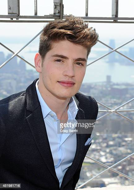 Gregg Sulkin visits The Empire State Building on July 10 2014 in New York City